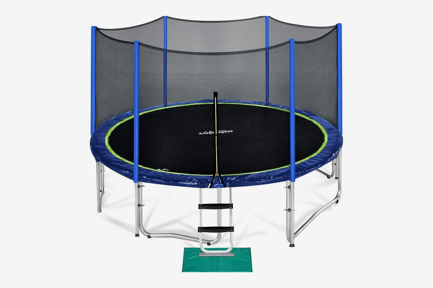 Zupapa Trampoline With Enclosure Net, Poles, and Safety Pad Ladder