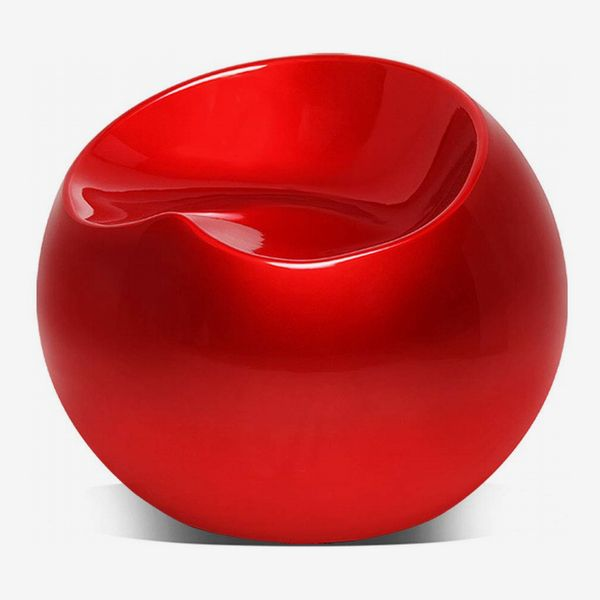Magshion Cocktail Ball Chair, Red