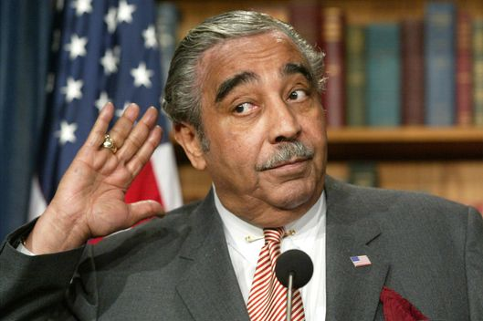 WASHINGTON - JANUARY 7:   U.S. Rep. Charles Rangel listens to questions during a news conference January 7, 2003 on Capitol Hill in Washington, DC. Rangel introduced legislation that would reinstitute a draft to compulsory military or alternative national service for men and women, aged 18 to 26, who are citizens or permanent residents of the United States.  (Photo by Alex Wong/Getty Images)