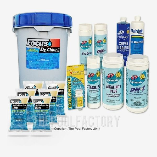 The Pool Factory Deluxe Chemical Package