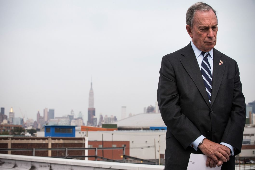 Bloomberg concentrates on holding in the bowel movement he has kept at bay for the past 50 years.