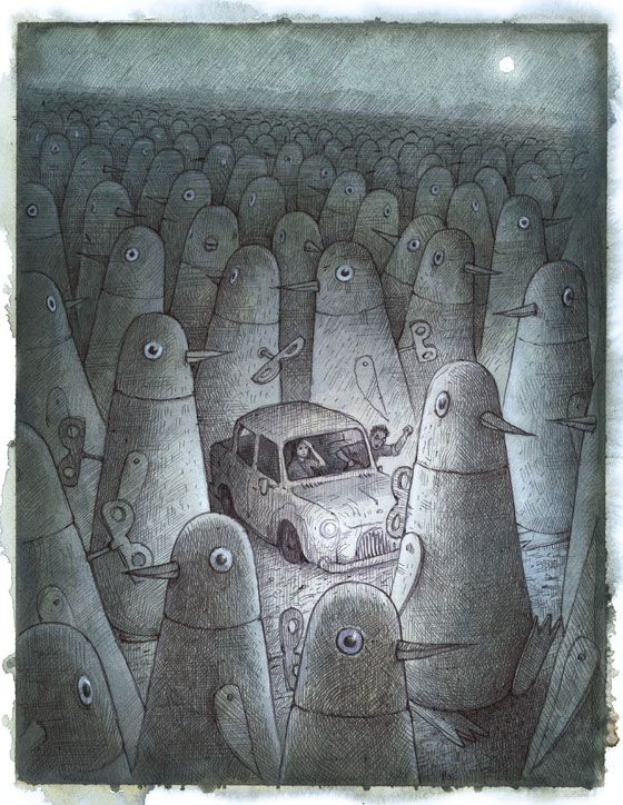 tales from outer suburbia by shaun This issue's cover image comes from shaun tan — artist, illustrator, animator and   image 'alert but not alarmed' was in tales from outer suburbia by shaun.