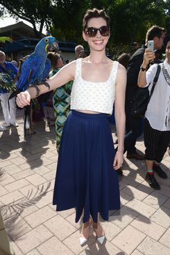 Ann Hathaway attends Miami Walk Of Fame Inauguration at Bayside Marketplace on March 21, 2014 in Miami, Florida.