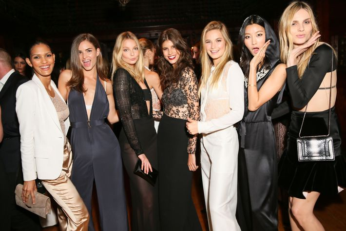 Models in the new La Perla collection.