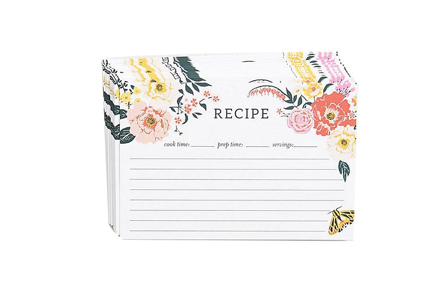 Garden Party Recipe Cards, Set of 20