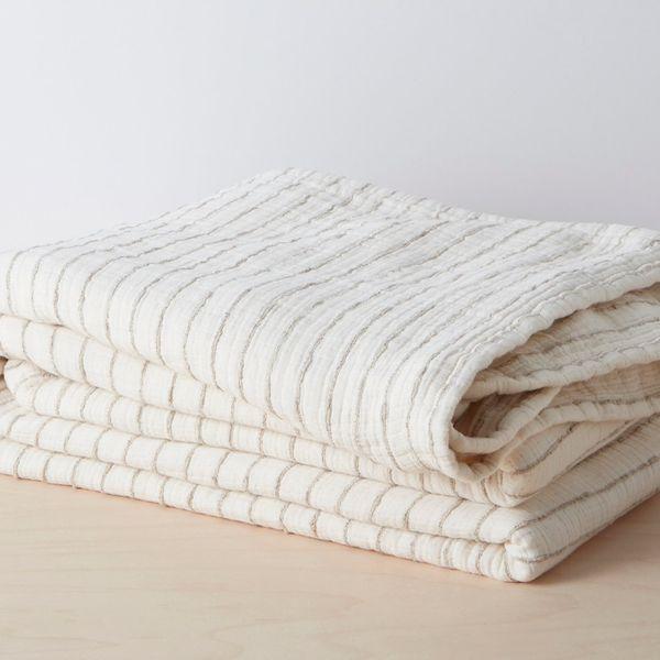 Organic Stripe Coverlet (Full/Queen)