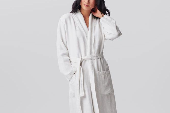 c6a88e2746 The best organic robe. Coyuchi Relaxed Linen Robe