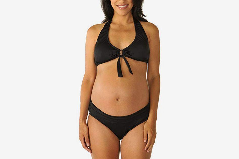 Prego Maternity Women's Roll Waist Bikini