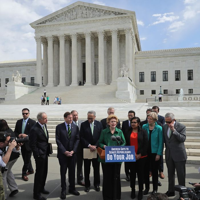 Senate Democrats Call For Confirmation Hearing For Supreme Court Nominee