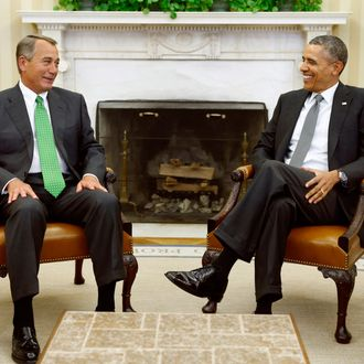 Obama meets Boehner at the White House in Washington