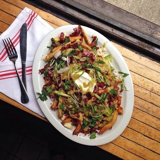 Chilaquiles poutine at Mile End Deli!