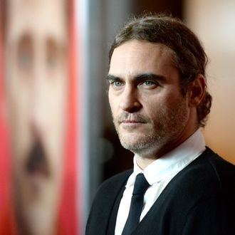 LOS ANGELES, CA - DECEMBER 12: Actor Joaquin Phoenix attends the premiere of Warner Bros. Pictures