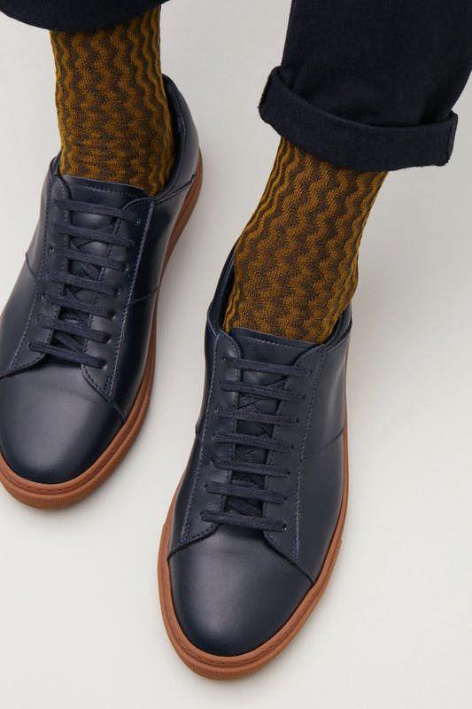 COS Textured Color Block Socks