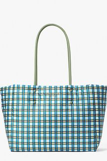 Kate Spade Everything Puffy Plaid Large Tote