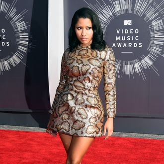 INGLEWOOD, CA - AUGUST 24: Recording artist Nicki Minaj attends the 2014 MTV Video Music Awards at The Forum on August 24, 2014 in Inglewood, California. (Photo by Frazer Harrison/Getty Images)