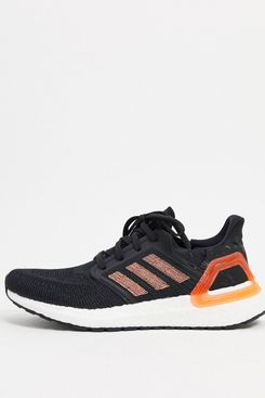 adidas Ultraboost 20 trainers in black coral & white