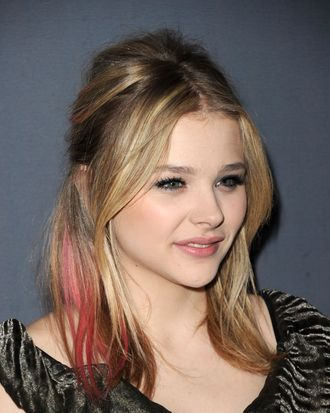 Chloe Moretz and her pink hair.