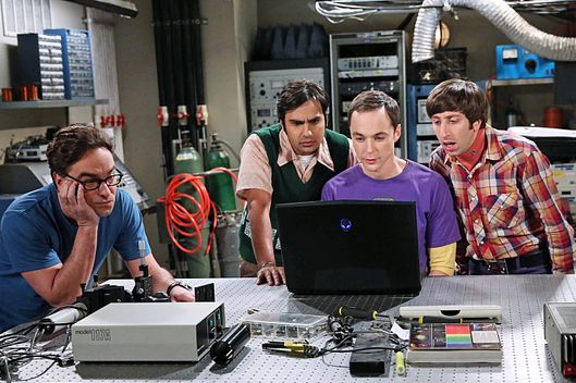 """The Focus Attentuation"" -- The guys try to invent something cool, but only come up with new ways to procrastinate, on THE BIG BANG THEORY, Monday, Oct. 13 (8:00-8:31, ET/PT), on the CBS Television Network. Pictured left to right: Johnny Galecki, Kunal Nayyar, Jim Parsons and Simon Helberg Photo: Michael Yarish/Warner Bros. Entertainment Inc. ?'?? 2014 WBEI. All rights reserved."