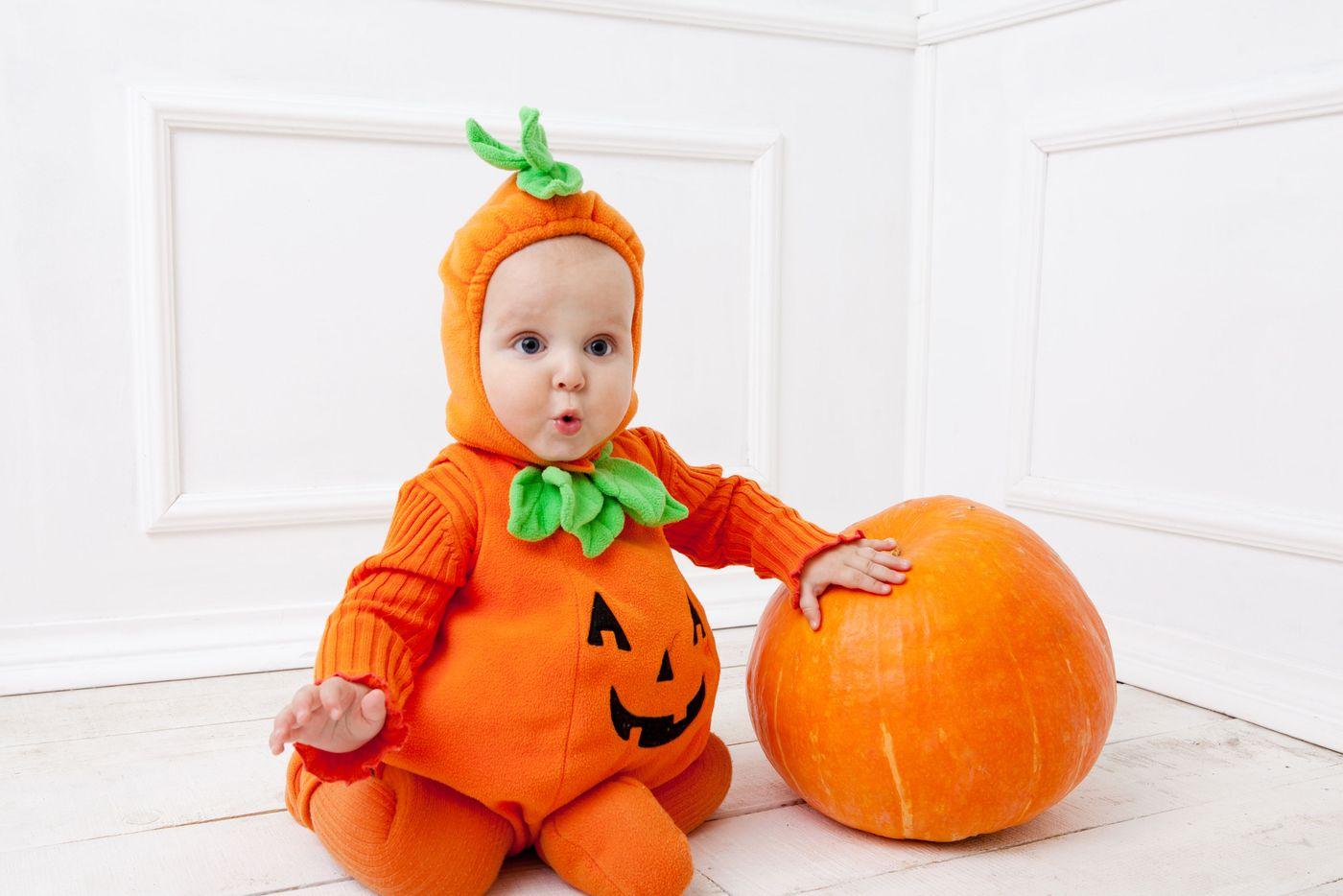 Baby Halloween Pumpkin.The Best Halloween Costume In Which To Dress Your Baby