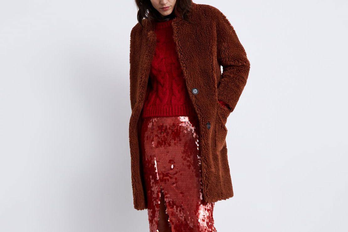 Double Faced Faux Fur Coat