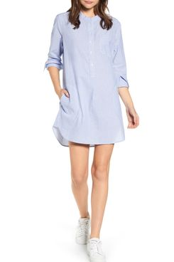 Alex Mill Fine Stripe Popover Shirtdress