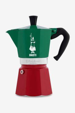 Bialetti Moka Express Stovetop Espresso Maker, Tricolor Italia, 6-Cups