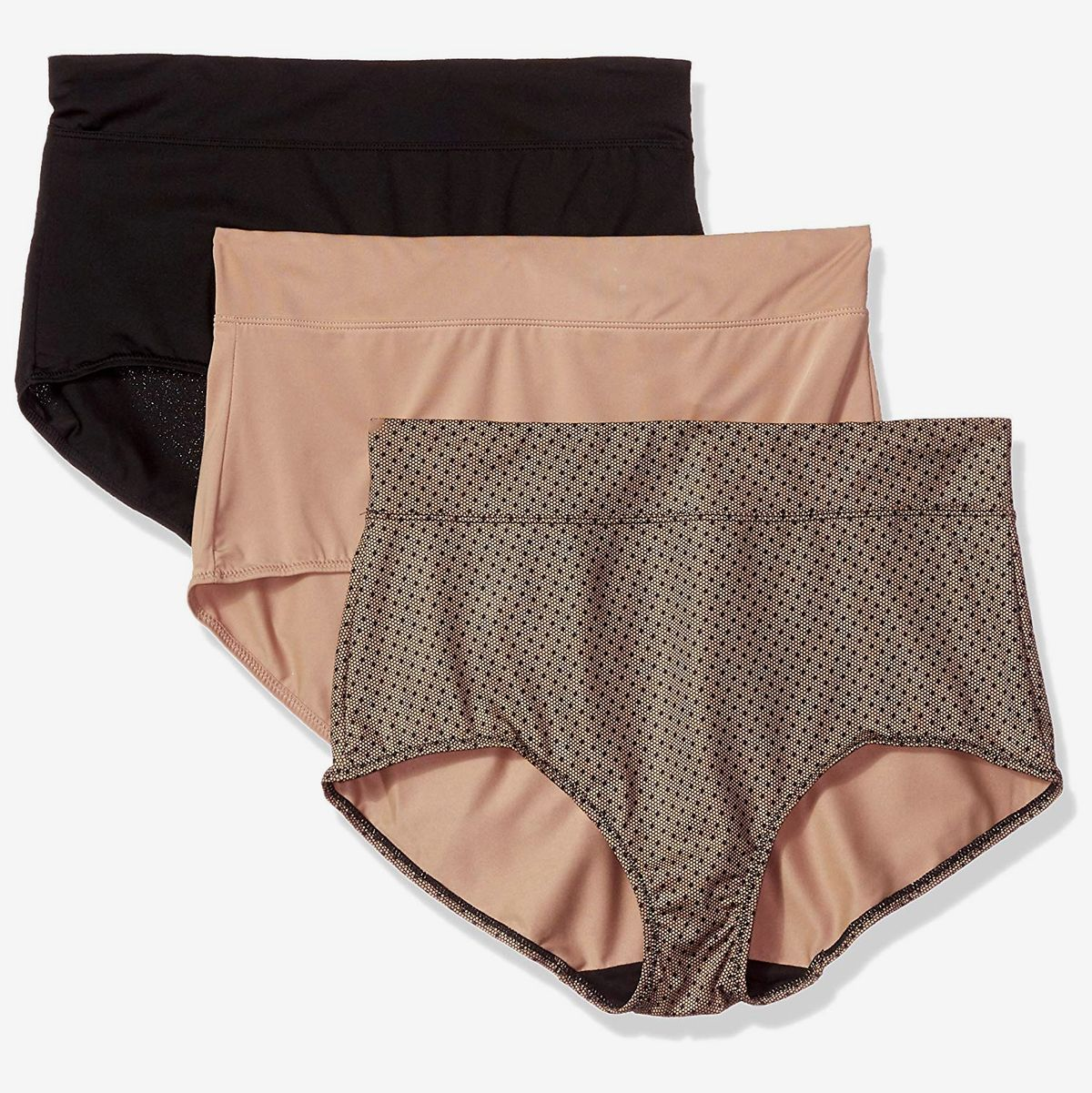 Lernonl No Ride Up Low Rise Cotton Brief Panties Women Seamless Underwear 2 Pack