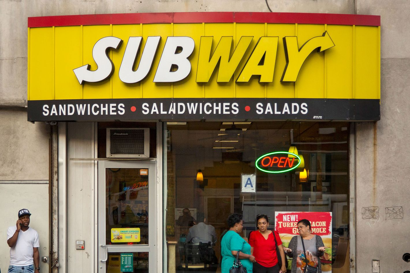 So close you can measure the distance between stores in sandwich lengths.