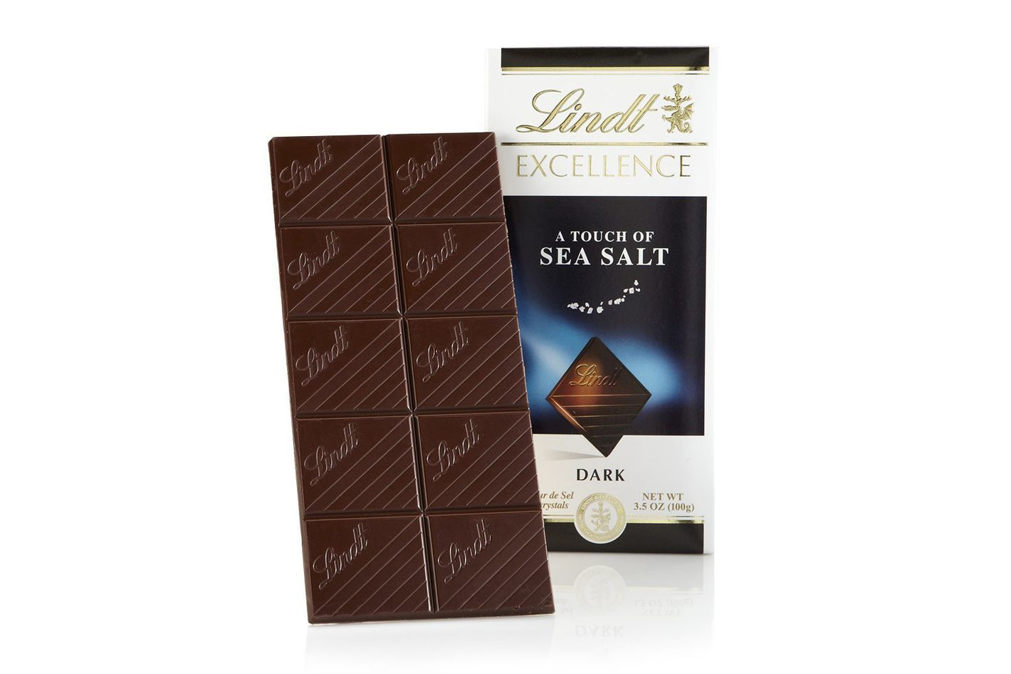 Lindt Sea Salt With Dark Chocolate Excellence Bar (Pack of 12)