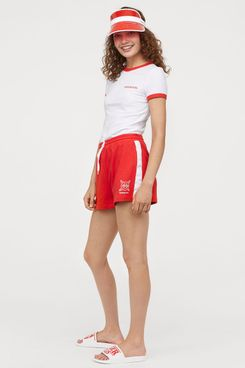 Stranger Things x H&M Sweatshorts with Side Stripes