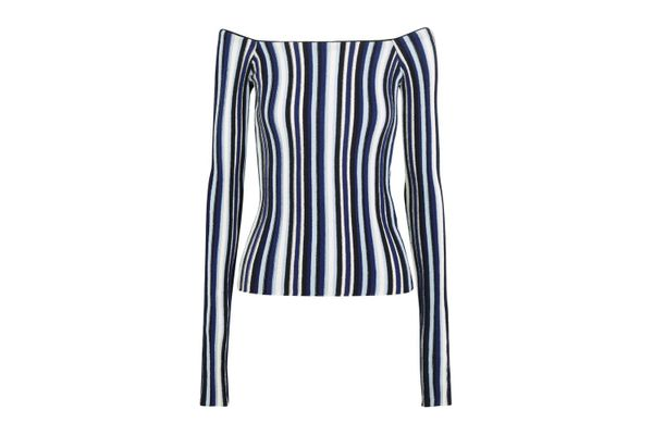 Jacquemus Off-the-Shoulder Wool Sweater