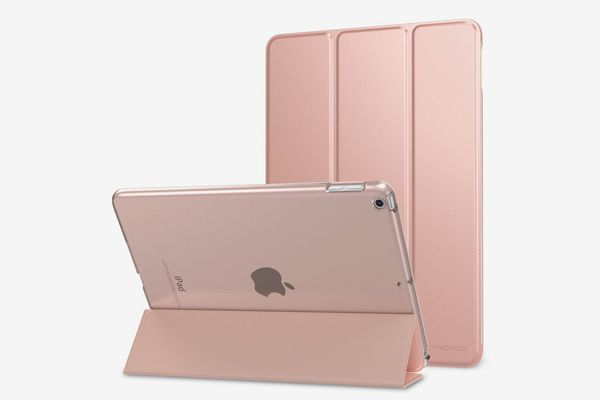 MoKo Case for iPad 9.7 2018/2017 Slim Lightweight Smart Shell Stand Cover, Rose Gold