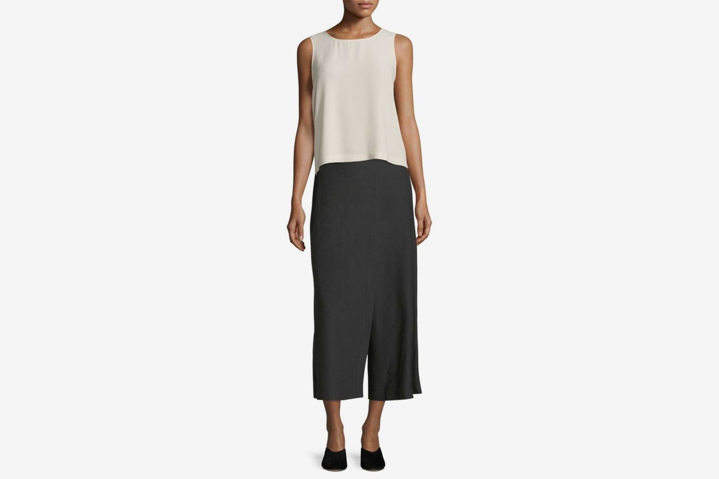 Eileen Fisher Wide-Leg Crop Pants