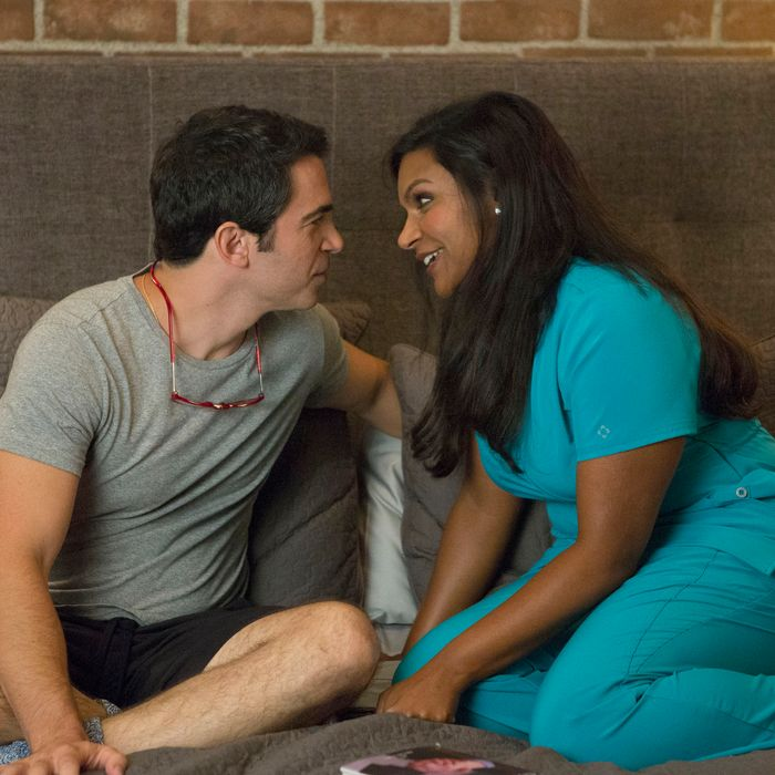 THE MINDY PROJECT: Mindy (Mindy Kaling, R) and Danny (Chris Messina, L) spend time together in the