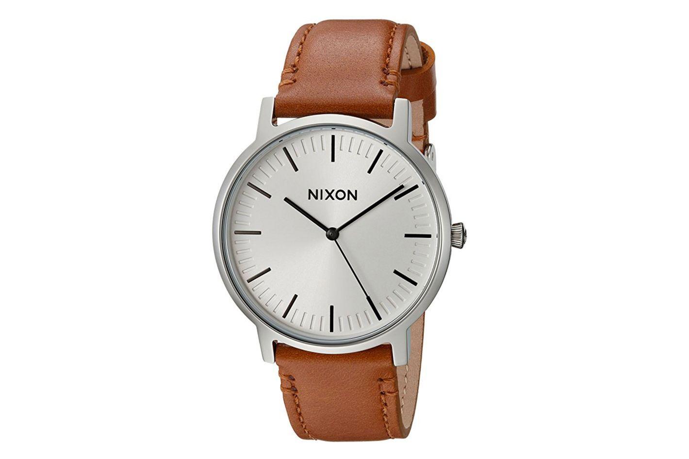 Nixon Men's Porter Quartz Leather Watch