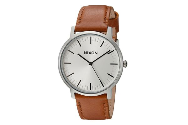 Nixon Men's Porter Quartz Leather Watch