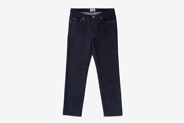 Lit Straight Raw Denim Boyfriend Jeans