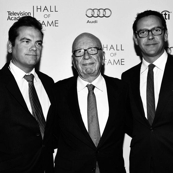Lachlan, Rupert, and James Murdoch.