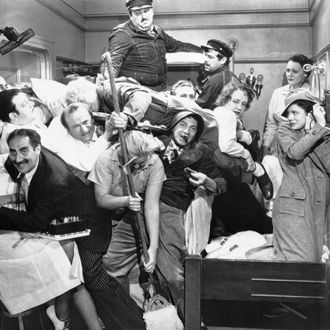 The Marx Brothers, in one of their most popular films, A Night at the Opera.