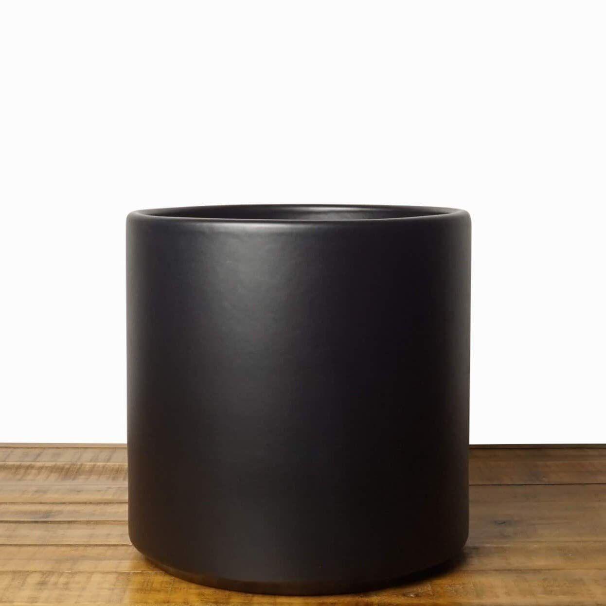 """Peach & Pebble 6.5"""" Ceramic Planter, Black"""