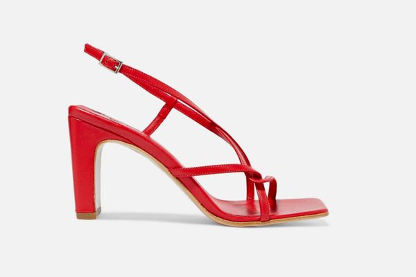 By Far Carrie Leather Slingback Sandals