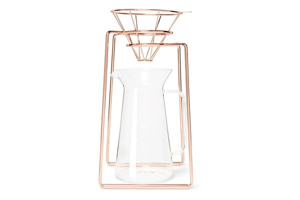 Toast Living H.A.N.D Copper-Tone Coffee Carafe And Dripper Set