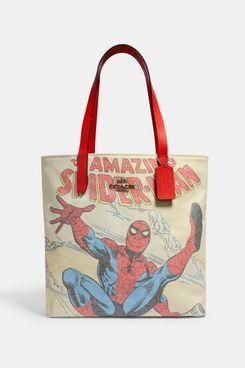 Coach x Marvel Tote With Spider-Man