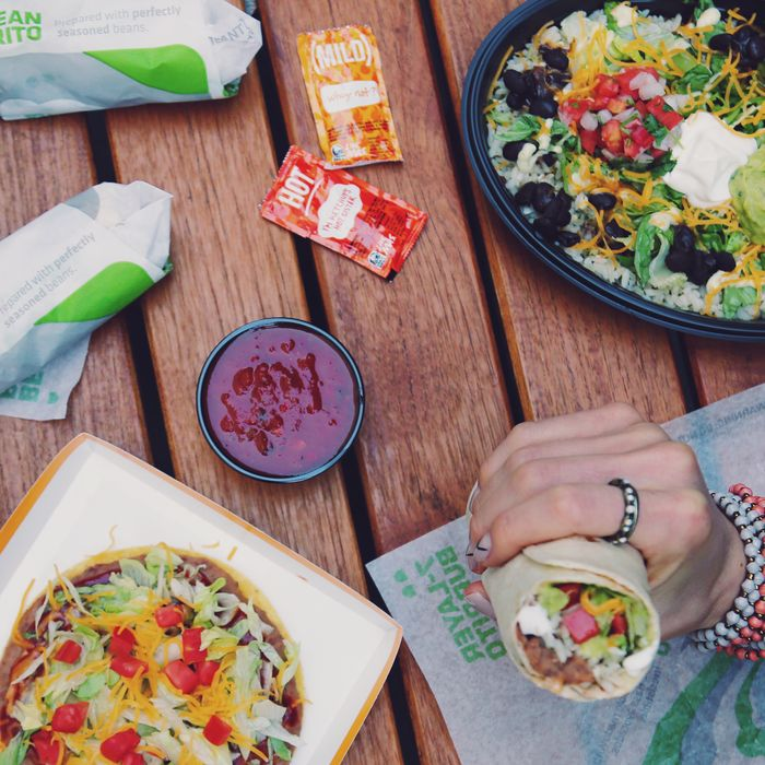 Get that vegan glow with your bean burrito.