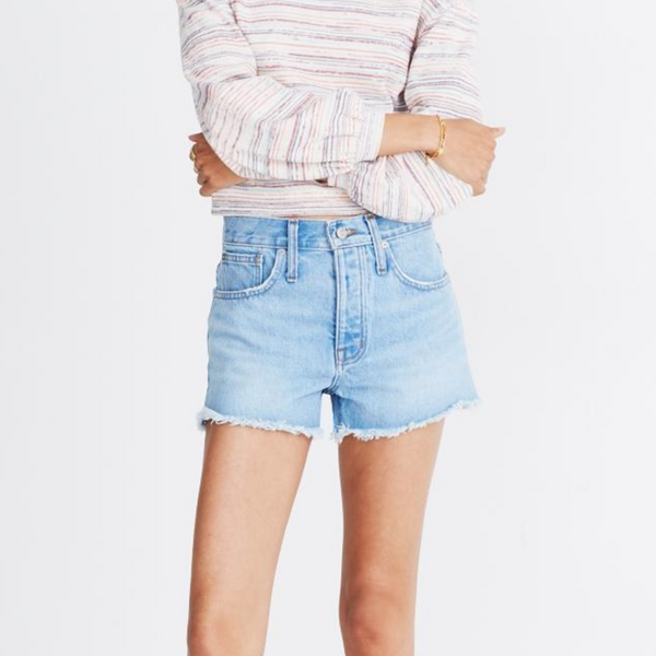 Madewell Relaxed Denim Shorts in Dunwoody Wash