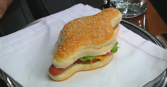 Hot Dog Hamburger Shark Tank