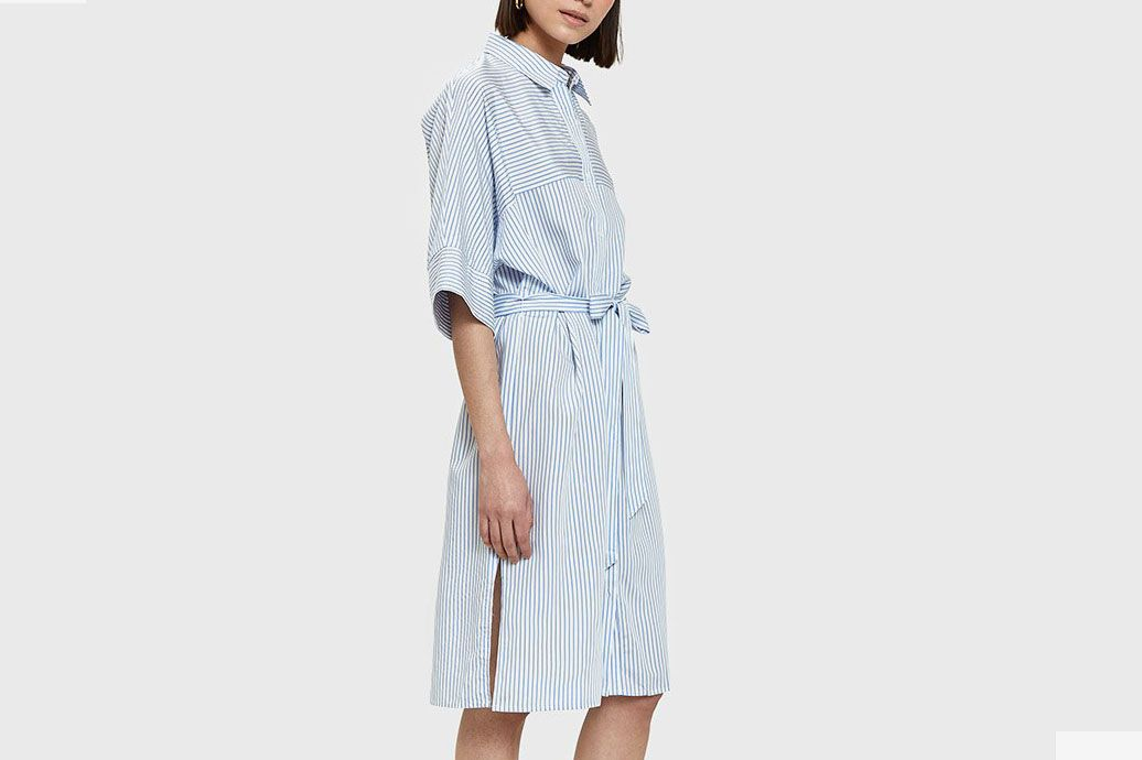 Farrow Ion Dress in Blue Stripe