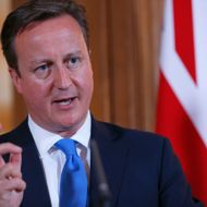 Britain's Prime Minister David Cameron (R) speaks during a joint press conference with his Italian counterpart Enrico Letta (L)  following a meeting in London on July 17, 2013.