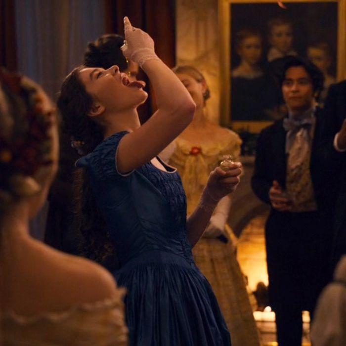 Hailee Steinfeld as Emily Dickinson.