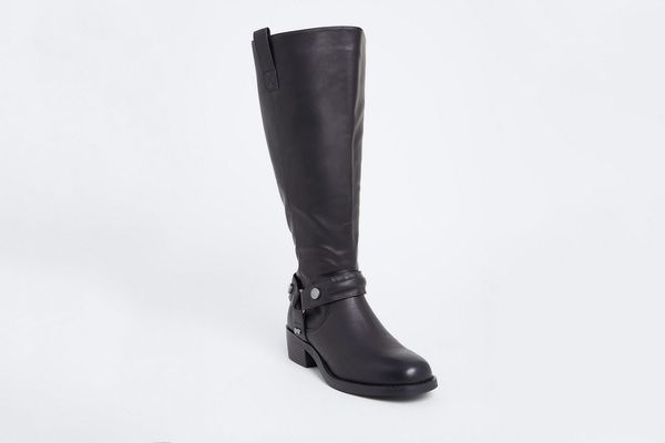Torrid Black Faux Leather Knee-High Wide Boot